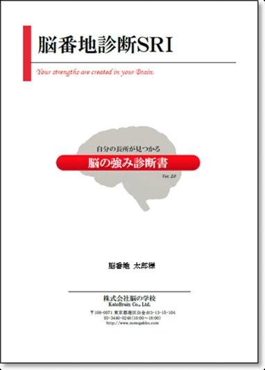 脳番地診断SRI 脳の強み診断書